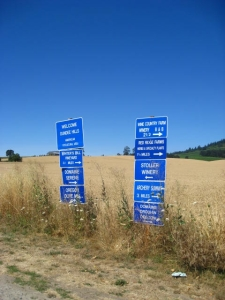 OR Winery Signs