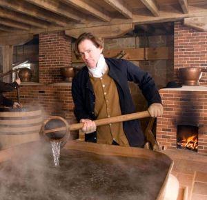 George Washington reenactor, Mount Vernon, Virginia
