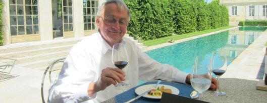 Alfio enjoying Château Giscours '98 during lunch at Château du Tertre