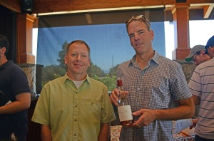 Marty Ray Winery winemaker Bill Batchelor (left) with proprietor Courtney Benham (right)