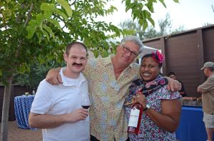 Our team (one with mustache) at Truett-Hurst Winery. Co-founder Phil Hurst (center)