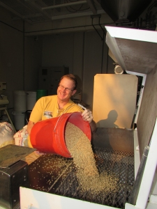Rob Hill adding the malt